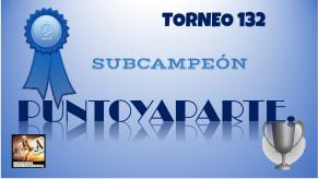 T132 DIPLOMA SUBCAMPEÓN