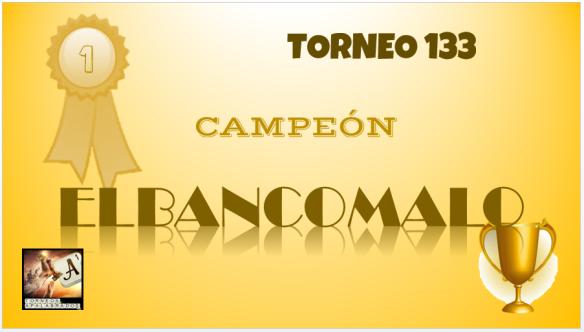 T133 DIPLOMA CAMPEÓN