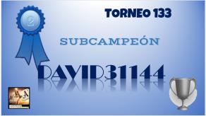 T133 DIPLOMA SUBCAMPEÓN